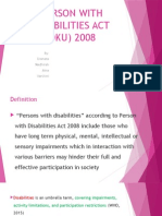 Person With Disabilities Act (Oku) 2008