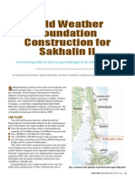 Cold Weather Foundation Construction for Sakhalin II