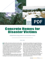 Concrete Homes for Disaster Victims