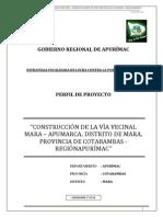 MODELO PROYECTO DE INVERSIÓN PUBLICA