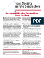 Responsibility for Controlling Slab Curling