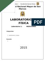 Laboratorio Fisica 1 UNMSM Informe 1