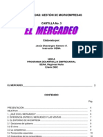 Cartilla No 3 El Mercadeo