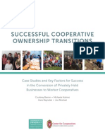 Democracy at Work Institute US Federation of Worker Cooperatives - Successful Cooperative Ownership Transitions- Case Studies on the Conversion of Privately Held Businesses to Worker Cooperatives - 2015