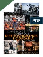 Relatório Anual Da Comissão de Direitos Humanos Da Alerj - 2014