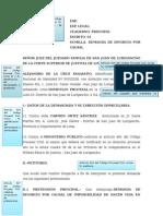 2 Descripcion de Modelo de Demanda - Dfdasfdsfasfasdfdsfadsforcio Por Imposiblidad de Convivencia Art 333 Inciso 11 Del Cc