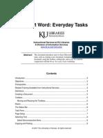Word Everyday Tasks 03