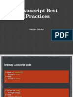 Javascript Best practise