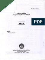 SOL BA Program 1st Year Urdu A Study Material In PDF