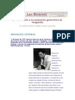 Carolina Queipo Gutierrez-Leo Brouwer y Su Aportación a La Composición Guitarrística de Vanguardia