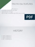 ES 6 features