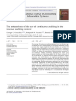 The Antecedents of the Use of Continuous Auditing in the Internal Auditing Context