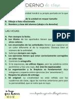 Organización cuaderno de clase ESO