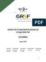 Analisis de La Capacidad de Gestion de La Seguridad Vial - Colombia 2013