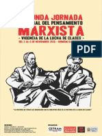 II Jornada Nacional Del Pensamiento Marxista 2015. Convocatoria