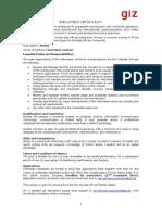 Final Advert - For EAC Web Development Expert