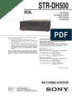 Sony Str-dh500 Ver-1.0 Sm