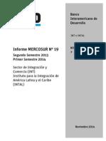 Informe MERCOSUR N 19 2013 2014 Segundo Semestre 2013 Primer Semestre 2014