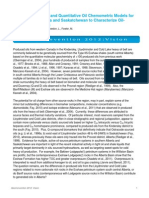 Petroleum Systems and Quantitative Oil Chemometric Models