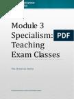 CM specialism Exam Classes