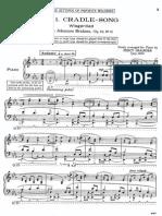 Free Setting of Brahms' Cradle Song
