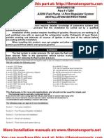 Aeromotive Part# 17104, A2000 Fuel Pump / 4 Port Regulator Installation Instructions