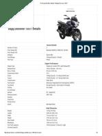 Print Specification Details of Bajaj Discover 150 F