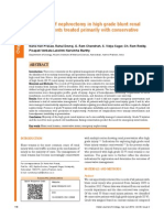 Predictor of Nephrectomy in High Grade Renal Trauma