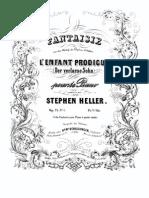 Stephen Heller Fantaisie Sur Des Motifs de l Opera d Auber Op 74 No 1 Schlesinger 3786
