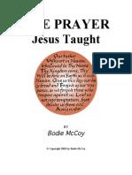 The Prayer Jesus Taught