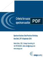 Best Practice Spectrum Auction Workshop India 24 Sep 14
