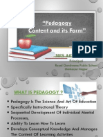 """Pedagogy –Content and Its Form"" (Ppt)"