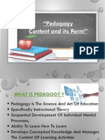 """""""Pedagogy –Content and Its Form"""" (Ppt)"""