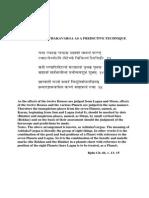 The Use of Asthakavarga as a Predictive Technique