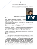 Reputation Narratives of Organizational Communiation of ERP Industries Local and Global ALAO 2008