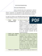 Tema 1 Definicion de La Psicologia Organizacional