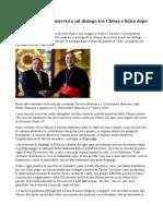 Tarcisio Bertone, Intervista Sul Dialogo Tra Chiesa e Stato Dopo La Visita a Cuba