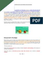 00 00 01 Poitivist -Intreptivis - Critical Paradigm