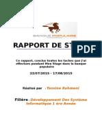 Rapport De Stage Au Sein Du Bp