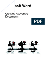 Word 2007 Creating Accessible Documents
