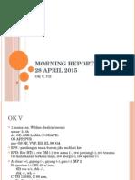 Morning Report 28 April