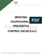 Carta de Presentación - Control Salud - Mar e.i.r.ltda