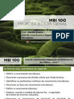 Crescimento e Regulação Do Metabolismo Microbiano