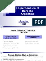 La Persona en El Derecho Argentino