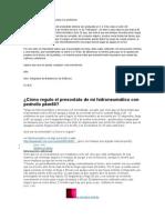 Cómo Regulo El Presostato de Mi Hidroneumático Con Pedrollo Pkm60