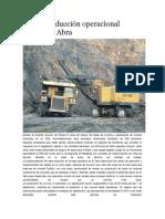 Plan de Reducción Operacional Minera El Abra