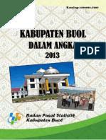 Kabupaten Buol Dalam Angka 2013