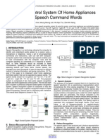 Electronic Control System of Home Appliances Using Speech Command Words