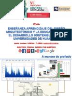 Enseñanza aprendizaje del diseño arquitectónico y la educación para el desarrollo sostenible en universidades de Huancayo, Adolfo Gustavo Concha Flores-Vi Ecc