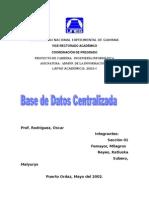 Bases de Datos Centralizada